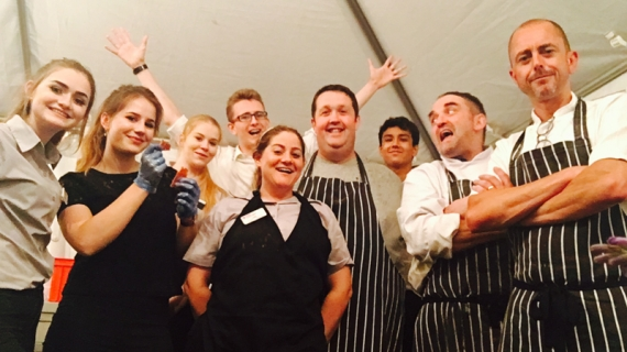 Shipston-on-Stour Marquee Wedding - Hospitality Staff